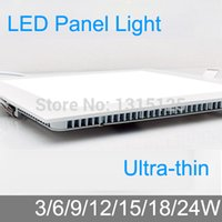 aluminum pannel - Thickness W W W W W W W LED downlight Square LED panel pannel light bulb for bedroom luminaire