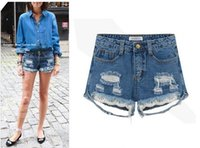 women jeans wear - young girl plus size hot jeans short summer new arrival street wear sizes color