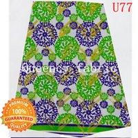 ankara material - High Quality Super Hollandais African Style Wax Prints Fabric green purple Ankara cotton material For Clothing U77