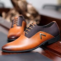 Wholesale New Mens Oxford Shoes Genuine Leather Fashion Dress Office Luxury Autumn For Casual Shoes Men Wedding Party Meeting Flats Shoes ZJ16 L01