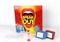 Wholesale Speak Out Game KTV party game cards for party Christmas gift newest best selling toy A106 DHL