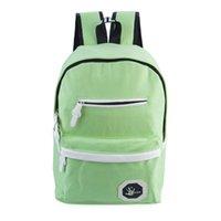 Wholesale Trendy School Bags Ladder Lock Zipper Geometric Letter Decoration Portable Travel School Bag Backpack Interior Compartment Canvas Unisex BZ