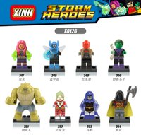 beetle gifts - DC Super Hero Killer Croc Starfire Saturn Girl Robin Blue Beetle Minifigures Learning Toys X0126 Building Blocks Kids Toy Gift
