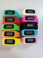 Sport Unisex Pedometer led Digital watch LCD Pedometer Run Step Walking watch Distance Calorie Counter Watch Bracelet 10 candy colors D874