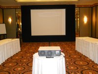 Wholesale inch x16ft Fast fold screen with rear and front fabric with dress kits with folding aluminum frame case