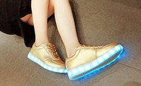 Lace-Up Unisex Spring and Fall 2016 hot LED light colorful Flashing Shoes with USB Charge Unisex Couple Shoes For Party Casual gift big size35-46