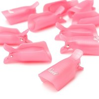 best clip art - Best Deal PC pack Plastic Nail Art Soak Off Cap Clip UV Gel Polish Remover Wrap Tool Rose White Purple Color for Women Beauty