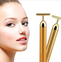 beauty relaxation - Beauty Bar Energy Beauty Bar K Gold Pulse Firming Massager Facial Roller Massage Facial Body Massage Relaxation With Boxes DHL Free