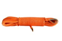 Wholesale Orange Color mm m ATV UTV Winch Line Kevlar Cable Winch Line for Small Electric Winch