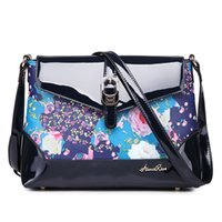 Wholesale High quality Printing Leather bag Crossbody bag Dirt resistent Mobile phone bag printing Bright skin Classic Four colr self choose New