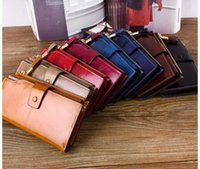 Wholesale 2016 New Fashion Women Wallets Drawstring Leather Wallet Women Long Design Purse Two Fold More Color Clutch