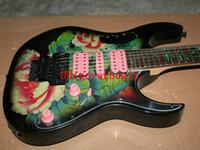 big musical instruments - Guitars High Quality Big Flower Electric Guitar Musical Instruments Hot Guitars