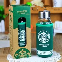 Wholesale High quality Lemon water bottle glass bottle starbucks bottle kids water cup Student water glasses comes with the box Cup set DHL
