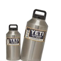 Wholesale yeti coolers oz Stainless Steel Large Capacity Cooler YETI Rambler Tumbler Cup Double Wall Bilayer Vacuum vs oz to oz yeti rambler