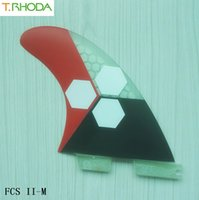 Wholesale 2016 High quality FCS II fins with fiberglass honey comb material for surfing size M