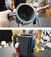 bear brick - 2016 Creative Bulit On Bricks Coffee Mugs DIY type Building Blocks Tumbler Bear cups Block Puzzle mugs PixelBlocks Mega Bloks Mugs
