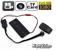 Remoto rápido T6 DHL HD 1080P visión nocturna bricolaje módulo de la cámara espía Mini videocámara ocultada DV DVR Micro Seguridad para el Hogar Camea Monitor + Wireless