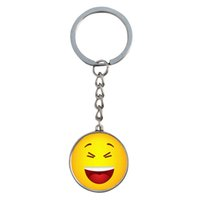beautiful souvenirs - Smiley Face Keychains Beautiful Smile Keychains Chaveiro Car Holder Pendant Key Chain Expression Anime Souvenir Jewelry