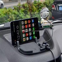 Wholesale Car mount Holder Dashboard Pad Stand Holder with Magnet Connector and Cable for iPhone s Samsung s6 note Auto bracket