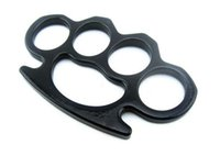 Wholesale 50PCS Silver Black Thin Steel Brass knuckle dusters Self Defense Personal Security Women s and Men s self defense Pendant Free