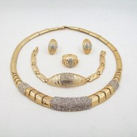 applied yellows - Fashion Zinc Alloy Necklace Gold Yellow Pearl Inlay Jewelry Sets For Apply Wedding Party Gift Add To Female Luster