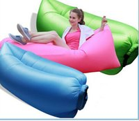 Wholesale Inflatable Air Sleeping Sofa Bag Hangout Outdoor Couch Portable Camping Beach Sleeping Bed