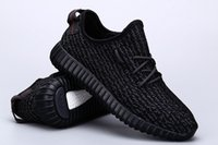 Wholesale The new summer men mesh sneakers running shoes Kanye West Black Pirate boost yards outdoor shoes Athletic Training