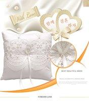 Wholesale Elegant wedding party decoration cm cm pocket ring pillow for love