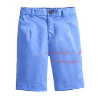 Wholesale 2016 Cutestyles Hot Selling Cotton Solid Shorts For Boys Everyday Wear Mid Waist Casual Children Clothes With Zipper Fly PT90324 L