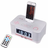 android dock radio - Hot A8 Touch Radio Alarm Clock Bluetooth Speaker docking System Portable bass speaker A8 Dock Station NFC AUX in Dual USB for iPhone Android