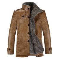 Wholesale Fall New Brand PU Leather Jacket Men Winter Jackets and Coats Thickening Wool Windbreak Warm Jaquetas De Couro Coat Plus Size4XL