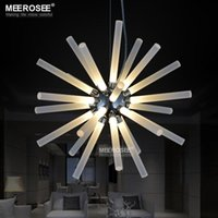 Wholesale LED Wedding Decorative Pendant Light Fixture LED Acrylic Lamp Modern LED Suspension Lustre for CAFE Hotel Restaurant Living room