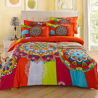 bedsheets cotton - New Boho bohemian style Bedding Sets Cotton Wedding Home Duvet Cover Bedsheets Pillowcases King Queen size