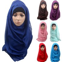 Wholesale Women s Cotton Comfortable Muslim Islamic Ramadan Hijab Long Scarf Shawl Headwear BSTO