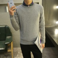 Wholesale solid color Sweater Man autum Warm thin Knitted Pullovers men O neck Long Sleeve Sweaters Standard Male