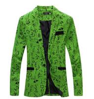 Wholesale New Design Mens Blazer Floral Suit Personality Casual Blazer For Men Blazer Slim Fit Jacket Fashion TOPS COAT