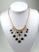 Wholesale 2016 the European and American style fashion necklace alloy resin With delicate ear diamond Clavicle Jewelry