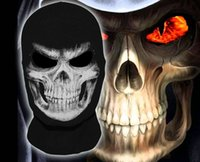 Wholesale Amazing Grim Reaper Face Mask Comfortable Rib Fabrics Terminator Balaclava Halloween Cosplay Mask Costume Skull Ghost Mask