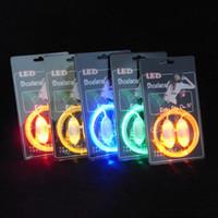 Wholesale LED Flashing shoe laces pairs Fiber Optic Shoelace Luminous Shoe Laces Halloween Christmas gift Free DHL FedEx