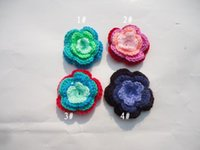 baby clothes crafts - wreath hair DIY craft Crochet manual hook flower Wool flowers Garment accessories baby clothing shoes hats accessorie cm