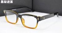 Wholesale New V Retro Fashion box Plain Mirror glasses Men and Women plain glass spectacles