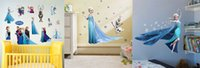 Wholesale 3D Animation Frozen home decor wall stickers PVC wall stickers new vinyl technology living Kids Room decor