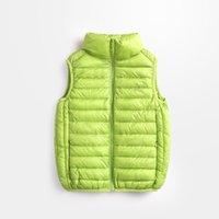 Wholesale 2016 New Arrival Fashion Turtleneck Eiderdown cotton baby outwear clothing winter sleeveless cm cm short coat kids waistcoat