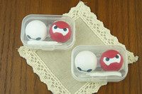 Wholesale Simple Cheap Eyes Contact Lens Case Colorful Lovely Cute Girls Flowers Cartoon Contact Lens Box CLB066