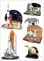 apollo saturn - CubicFun DIY handmade D Puzzle space ship Saturn Apollo Lunar Module Children s toys Creative diy toys for adults kids