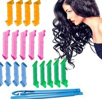 Wholesale DIY Magic Rollers Amazing Magic Leverag Hair Curlers Hair Roller cm cm long Tools Magic Circle Twist Spiral Styling Tools KKA406