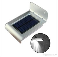 Wholesale 16 LEDs Sound Sensor Solar Power Light Outdoor led Light lamp Wall Light waterproof Garden courtyard Lamp