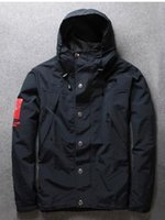 Cheap Fall-New Fall Winter Rare Hip Hop Designer Hooded Men Windbreaker Jacket Coat Brand Tag Outerwear Sportswear