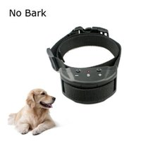 Wholesale DHL free Advanced Electronic Anti Bark Collar with Safe Training Sound Vibration and Levels Adjustable Sensitivity Control Button for Smal