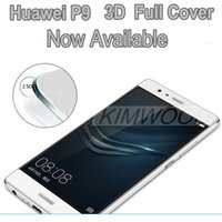 arrival cover glass - NEW ARRIVAL Huawei P9 Full Cover D Curved Side Tempered Glass Screen Protector MM Explosion Proof Retail Box DHL